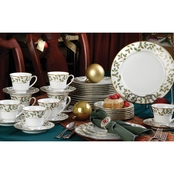 Noritake Holly and Berry Gold 40 pc. Dinnerware Set