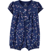 Carter's Infant Girls Rainbow Snap Up Romper