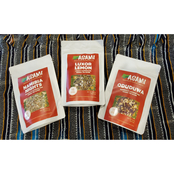 Asami Herbal Tea Variety Gift Set 4 oz. Natural Loose Leaf Pyramid Tea Bags 45 pk.