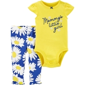 Carter's Infant Girls Mommy's Little Girl Bodysuit and Pants 2 pc. Set