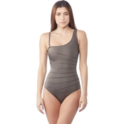 Calvin Klein One Shoulder Starburst One Piece Swimsuit
