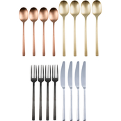 Cambridge Silversmiths Beacon Multi Color Satin 16 pc. Flatware Set