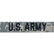 Army Embroidered Branch Tape with Hook and Loop (ACU)