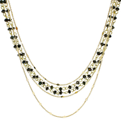 Panacea Bronze Crystal Strand Necklace