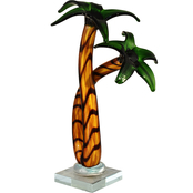 Dale Tiffany Palm Tree Art Glass Sculpture