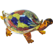 Dale Tiffany Tracey Turtle Handcrafted Art Glass Figurine