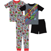 Marvel Boys Avengers 4 pc. Pajama Set