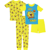 Nickelodeon Boys SpongeBob 4 pc. Pajama Set