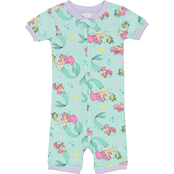 Disney Toddler Girls Little Mermaid Cotton Romper Pajamas