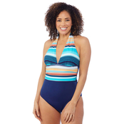 Jantzen Shirred Band Halter 1 pc. Swimsuit