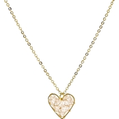 Panacea Beaded Heart Necklace