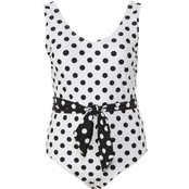Lysa Plus Size Nadia One Piece Polka Dot Swimsuit
