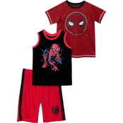 Marvel Little Boys Spider-Man 3 pc. Shirt and Shorts Set
