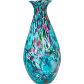 Dale Tiffany Leona Hand Blown Art Glass Vase