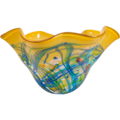 Dale Tiffany Viola Hand Blown Art Glass Bowl