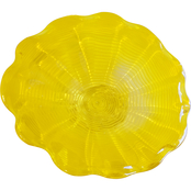 Dale Tiffany Tawney Yellow Hand Blown Art Glass Wall Decor 12 in. diam.