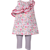 Bonnie Jean Little Girls Ruffle Top and Leggings Set