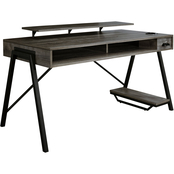 Signature Design by Ashley Barolli Gaming Desk with Monitor Stand