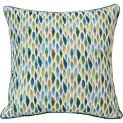 Outdoor Decor Laguna 24 x 24 in. Printed Cushion with Piping and Zipper