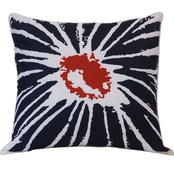 Outdoor Decor Floral Splash 18 x 18 Printed Cushion