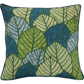 Outdoor Decor Tropical Leaves 18 x 18 in. Printed Cushion
