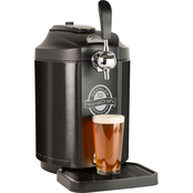 HomeCraft Black Stainless Steel Tap Beer Growler Cooling System