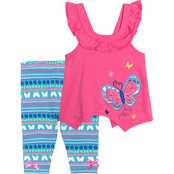 Nannette Infant Girls Butterfly Top and Leggings 2 pc. Set