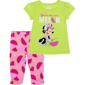 Disney Infant Girls Minnie Mouse 2 pc. Capri Legging Set