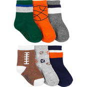 Carter's Toddler Boys Sports Socks 6 pk., Size 2T-4T