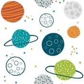 RoomMates Colorful Planets Peel and Stick Wallpaper