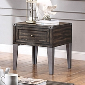 Furniture of America Piedmont Storage End Table