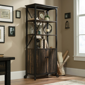 Sauder Steel River Bookcase with Doors