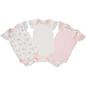 Cutie Pie Baby Infant Girls Kyle & Deena 3 pk. Bunny Bodysuit