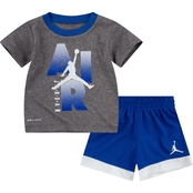 Jordan Infant Boys MJ Iconic Logo Tee and Shorts 2 pc. Set