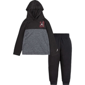 Jordan Toddler Boys Air Jordan Stencil Hooded Top and Pants 2 pc. Set