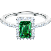 Swarovski Green Angelic Rectangular Ring