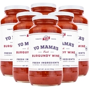 Yo Mama's Keto and Paleo Burgundy Wine Pasta Sauce 6 pk., 25 oz.