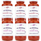 Yo Mama's Burgundy Wine and Chianti Wine Keto Pasta Sauce 6 pk., 25 oz.