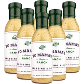 Yo Mama's Low Carb American Ranch Dressing and Dip 8 Bottles, 13 oz. each