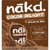 Nak'd Bars Nakd Cocoa Delight Family Pack 1.24 oz. units, 48 pk.