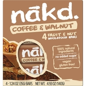 Nak'd Bars Nakd Coffee and Walnut Family Pack 1.24 oz. units, 48 pk.