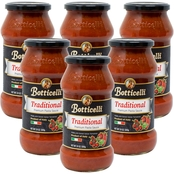 Botticelli Premium Traditional Pasta Sauce 6 x 24 oz. Glass Jars