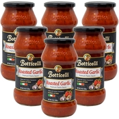 Botticelli Premium Roasted Garlic Pasta Sauce 6 x 24 oz. Glass Jars