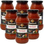 Botticelli Premium Marinara Pasta Sauce 6 x 24 oz. Glass Jars
