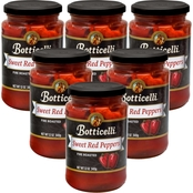 Botticelli Roasted Red Peppers 12 oz. Glass Jars, 6 pk.