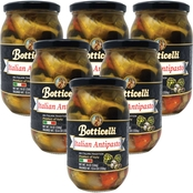 Botticelli Antipasto 18 oz. Glass Jars, 6 pk.