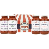 Yo Mama's Gourmet Gift Box with 4 Bottles