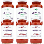 Yo Mama's Keto and Paleo Spicy Marinara and Tomato Basil Pasta Sauce 6 ct., 25 oz.