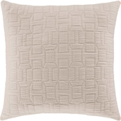 Oscar Oliver Sinclair Ecru 20 in. Square Decorative Throw Pillow