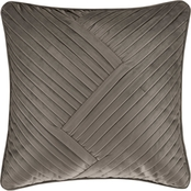 J. Queen New York Milan Oatmeal 18 in. Square Decorative Throw Pillow
